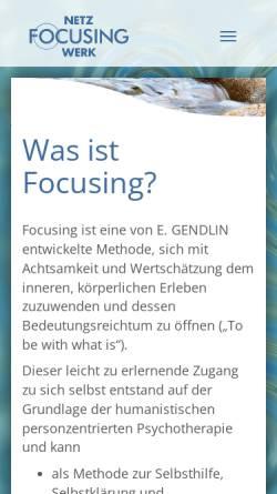 Vorschau der mobilen Webseite www.focusing-netzwerk.de, Focusing-Netzwerk