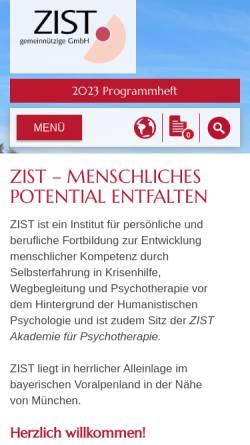 Vorschau der mobilen Webseite www.zist.de, ZIST