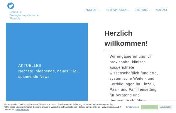 Vorschau von www.psychotherapieausbildung.ch, Institut für ökologisch-systemische Therapie
