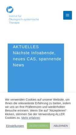 Vorschau der mobilen Webseite www.psychotherapieausbildung.ch, Institut für ökologisch-systemische Therapie