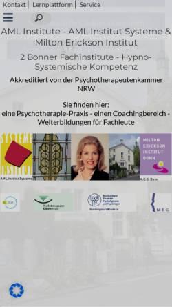 Vorschau der mobilen Webseite www.institut-systeme.de, Institut Systeme