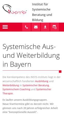 Vorschau der mobilen Webseite www.insys-institut.de, Insys