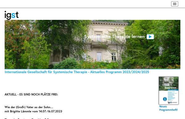 Vorschau von www.igst.org, Internationale Gesellschaft für systemische Therapie