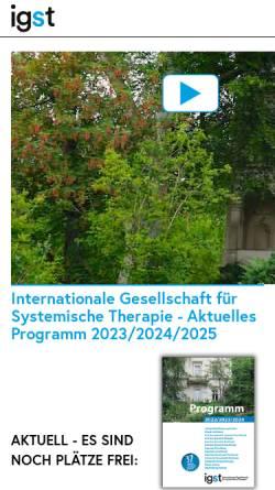 Vorschau der mobilen Webseite www.igst.org, Internationale Gesellschaft für systemische Therapie