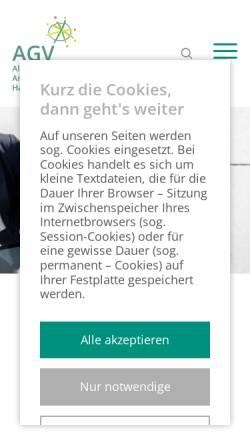 Vorschau der mobilen Webseite www.agv-harz.de, Allgemeiner Arbeitgeberverband Harz e.V. [AGV]