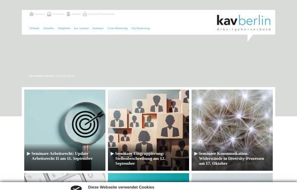Vorschau von www.kavberlin.de, Kommunaler Arbeitgeberverband Berlin [KAV Berlin]