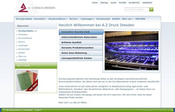 Vorschau von www.azdd.de, A-Z Druck Dresden e.K.