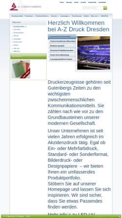 Vorschau der mobilen Webseite www.azdd.de, A-Z Druck Dresden e.K.