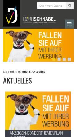 Vorschau der mobilen Webseite www.duerrschnabel.com, Dürrschnabel Druckerei und Verlag GmbH