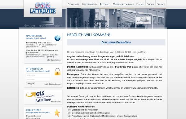 Vorschau von www.lattreuter.de, Lattreuter GmbH