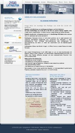 Vorschau der mobilen Webseite www.lattreuter.de, Lattreuter GmbH
