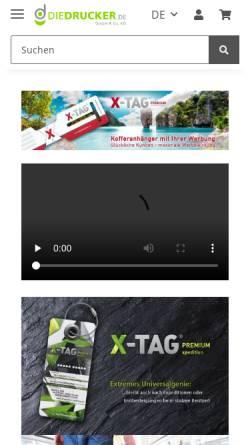 Vorschau der mobilen Webseite www.diedrucker.de, Media Die Drucker - Peter Salewski