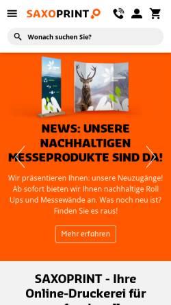 Vorschau der mobilen Webseite www.saxoprint.de, Saxoprint GmbH