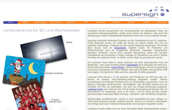 Vorschau von www.supersign.de, SuperSign GmbH