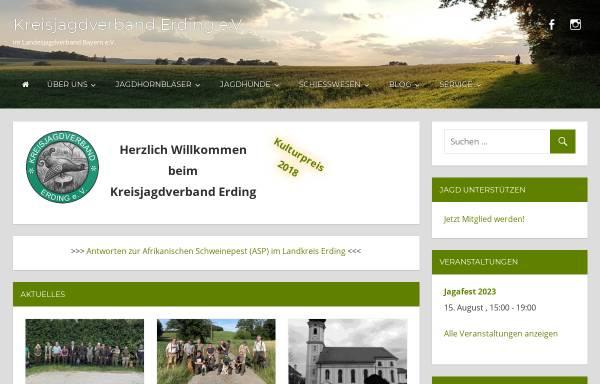 Vorschau von www.jagd-erding.de, Kreisjagdverband Erding e.V.