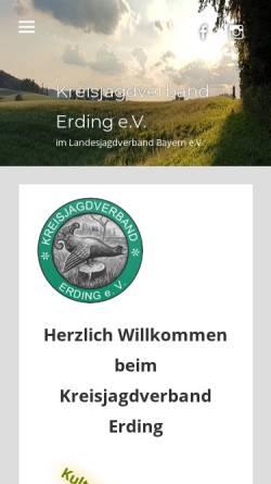 Vorschau der mobilen Webseite www.jagd-erding.de, Kreisjagdverband Erding e.V.