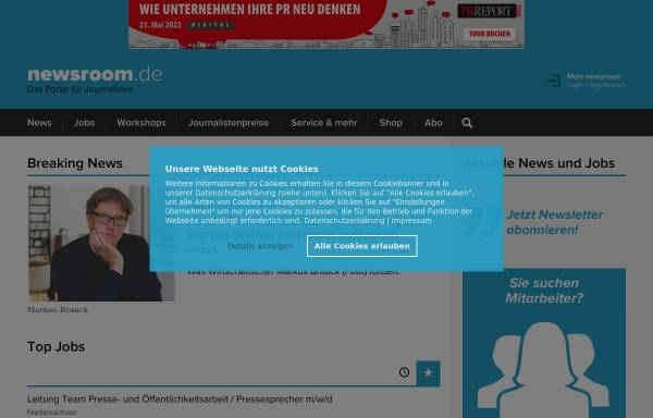 Vorschau von djv.newsroom.de, Newsroom