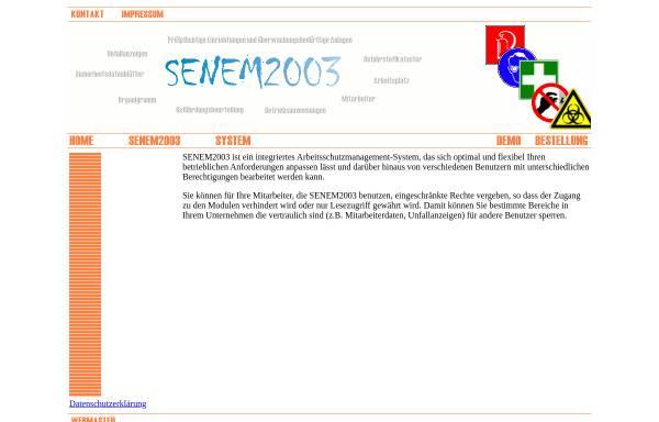 Vorschau von www.senem.de, SENEM2001 Arbeitsschutzsoftware