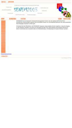 Vorschau der mobilen Webseite www.senem.de, SENEM2001 Arbeitsschutzsoftware