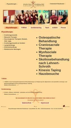Vorschau der mobilen Webseite www.physiotherapie-hedendorf.de, Praxis für Physiotherapie Andrea Buck-Beckdorf