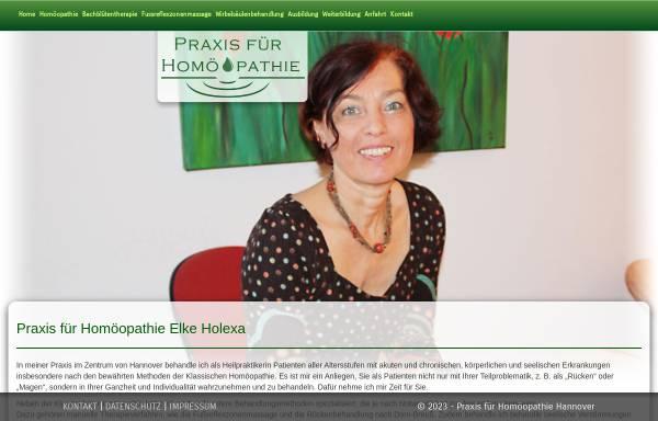 Vorschau von www.xn--homopathie-hannover-s6b.de, Heilpraxis für Homöopathie