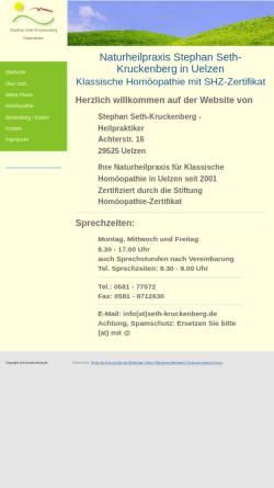Vorschau der mobilen Webseite www.seth-kruckenberg.de, Stephan Seth-Kruckenberg