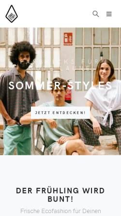 Vorschau der mobilen Webseite www.zuendstoff-clothing.de, Zündstoff, Sascha Klenz & Mathhias Rau GbR