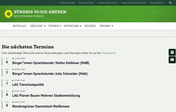 Vorschau von www.gruene-pankow.de, Bündnis 90/Die Grünen Pankow