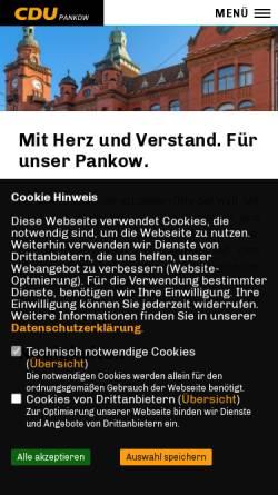 Vorschau der mobilen Webseite www.cdupankow.de, CDU Pankow