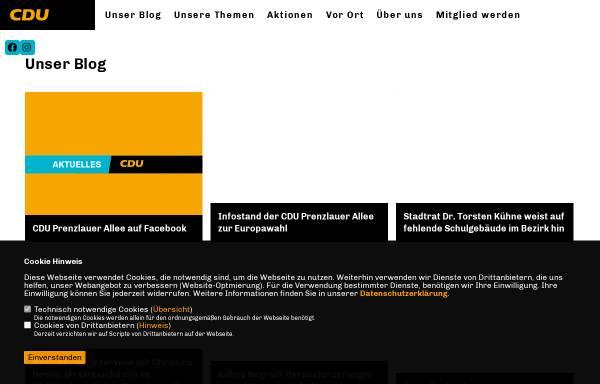Vorschau von www.cdu-prenzlauer-allee.de, CDU Prenzlauer Allee