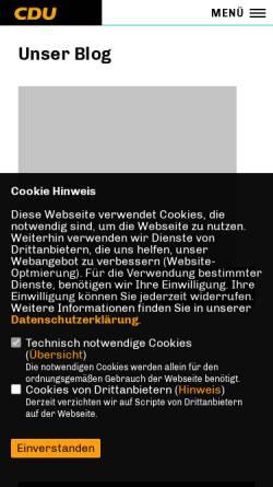 Vorschau der mobilen Webseite www.cdu-prenzlauer-allee.de, CDU Prenzlauer Allee