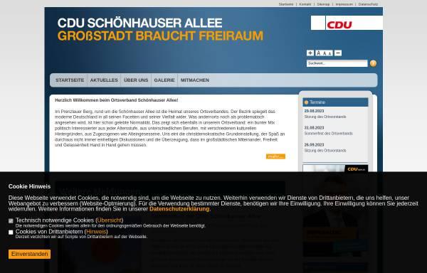 Vorschau von www.cdu-schoenhauser-allee.de, CDU Schönhauser Allee
