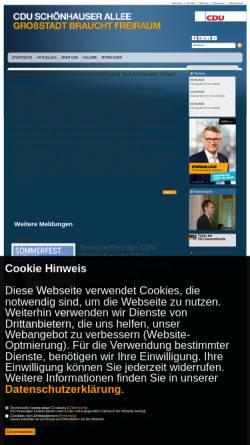 Vorschau der mobilen Webseite www.cdu-schoenhauser-allee.de, CDU Schönhauser Allee