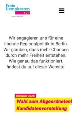 Vorschau der mobilen Webseite www.fdp-pankow.de, FDP Pankow