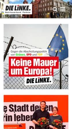 Vorschau der mobilen Webseite www.die-linke-pankow.de, Die Linke. Pankow