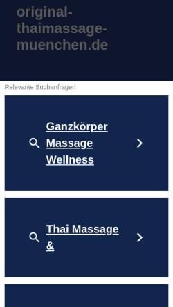 Vorschau der mobilen Webseite www.original-thaimassage-muenchen.de, Original Thaimassage München GbR