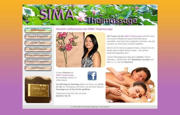 Vorschau von www.sima-thaimassage.de, SIMA Thaimassage