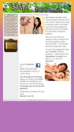 Vorschau der mobilen Webseite www.sima-thaimassage.de, SIMA Thaimassage