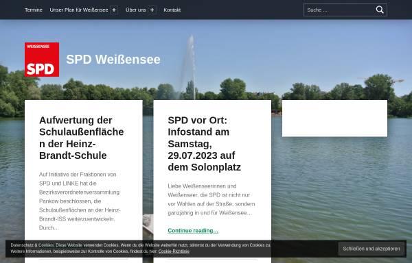 Vorschau von spd-weissensee.de, SPD Weißensee