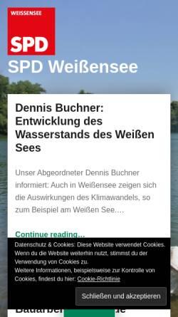 Vorschau der mobilen Webseite spd-weissensee.de, SPD Weißensee
