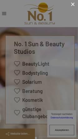 Vorschau der mobilen Webseite www.beste-sonne.de, Sonnenstudio No.1