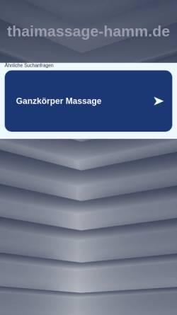 Vorschau der mobilen Webseite www.thaimassage-hamm.de, Traditionelle Thai-Massage