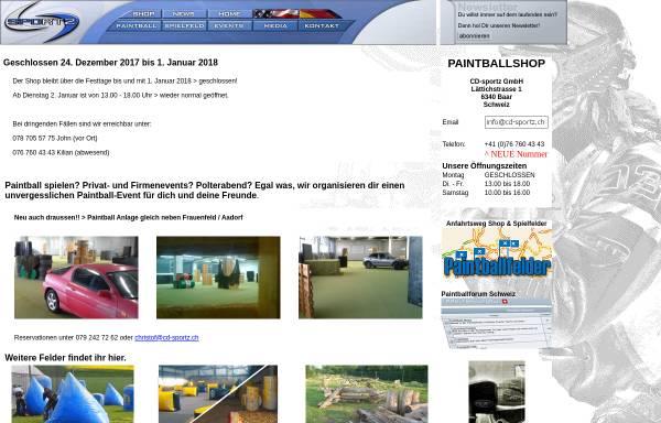 Vorschau von www.cd-sportz.ch, CD-Sportz Paintball