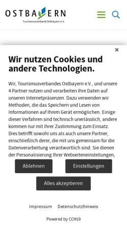 Vorschau der mobilen Webseite www.ross-und-reiter-urlaub.de, Ross&Reiter in Ostbayern