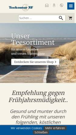 Vorschau der mobilen Webseite www.biel-tee.de, Biel Tee GmbH & Co. KG