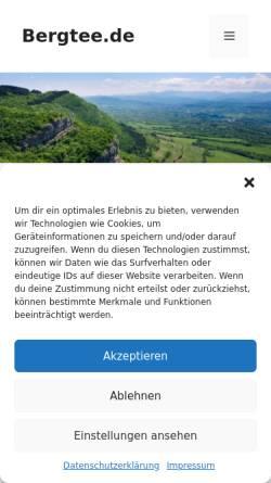 Vorschau der mobilen Webseite www.bergtee.de, Aytem GmbH