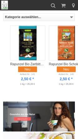 Vorschau der mobilen Webseite www.rehburger-shop.de, Bad Rehburger Tee- und Nahrungsmittelfabrik