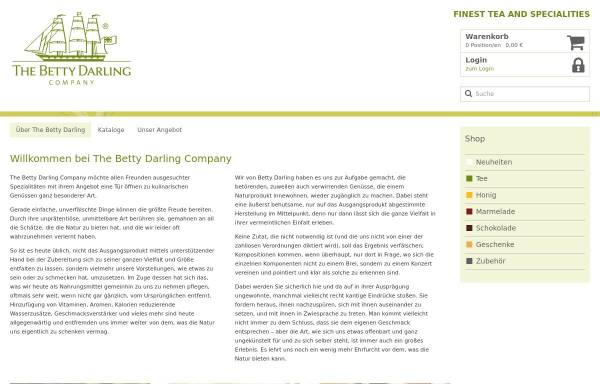 Vorschau von www.betty-darling.de, Betty Darling Tea Company Bremen
