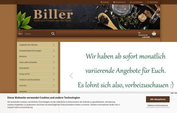Vorschau von www.teefabrik.de, Biller Naturmittel Teefabrik