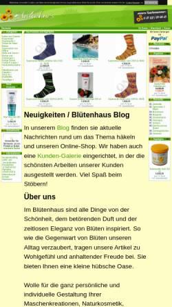 Vorschau der mobilen Webseite www.bluetenhaus.de, Blütenhaus